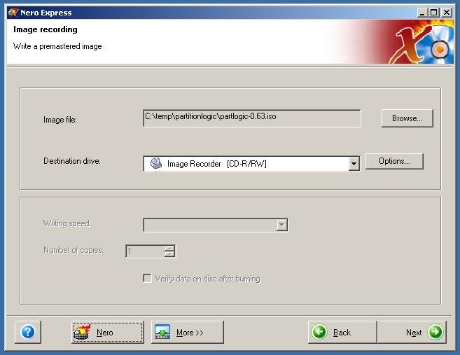 partition logic user manual burning with nero 6 rh partitionlogic org uk Nero 7 Nero 7