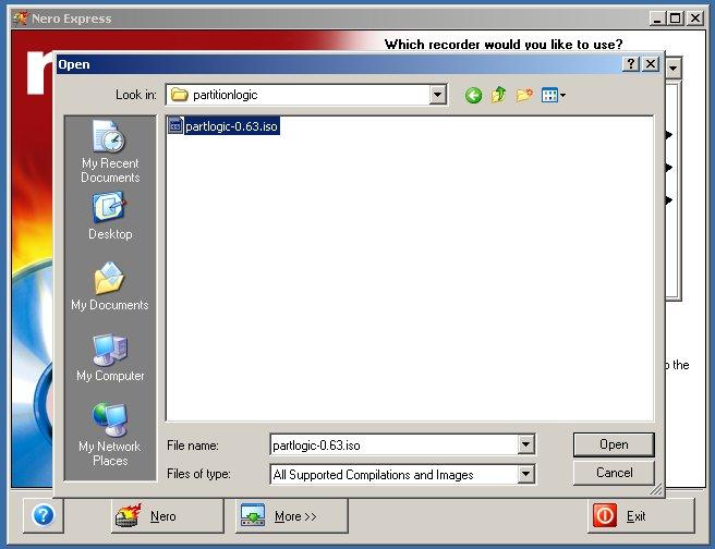 partition logic user manual burning with nero 6 rh partitionlogic org uk Nero 7 Emperor Nero